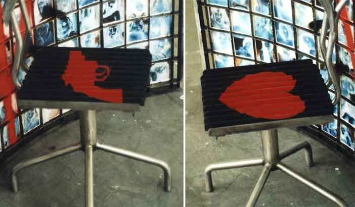 'Sing Sing chair' Main installation, detail