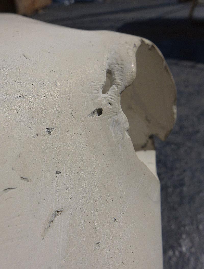 Restored skull detail