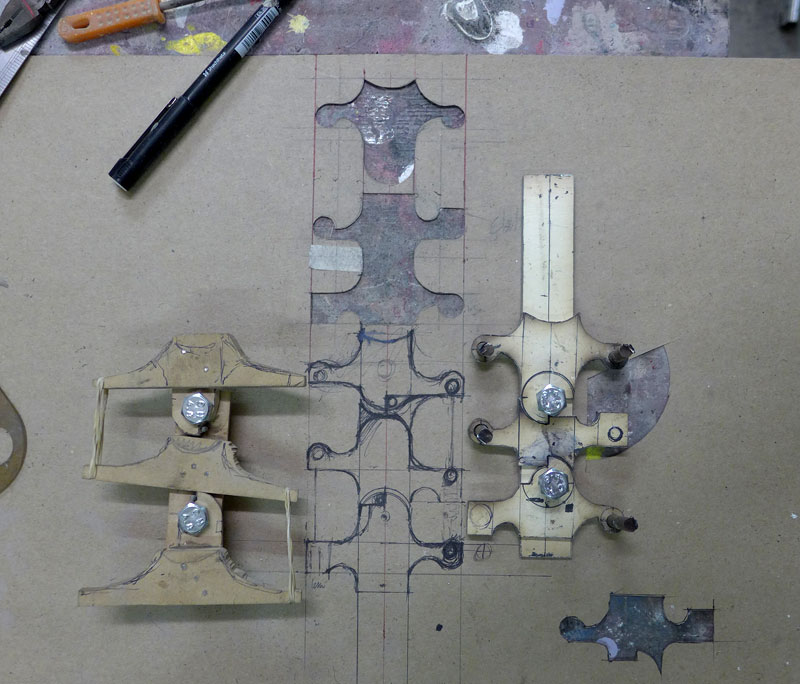 Template and rough cut steel mechanism